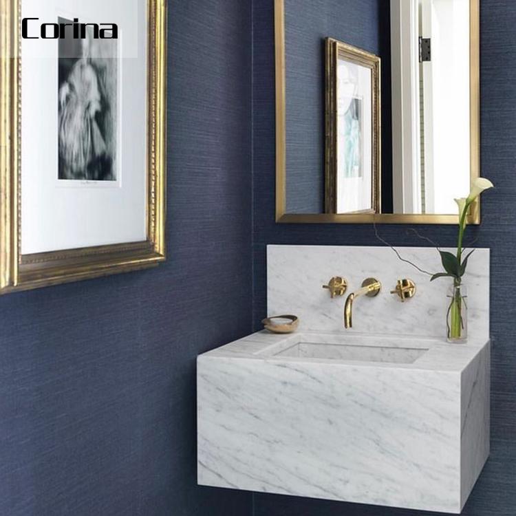Weiß moderne feste oberfläche Eitelkeit Combo bad waschbecken Bad schrank