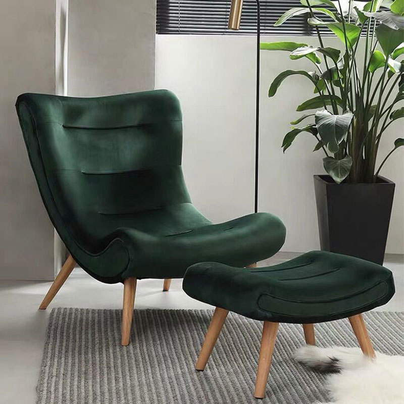 luxury overstuffed living room chairs green lazy single sofa chair Leisure chair Factory Wholesale Philippines Hot Deals