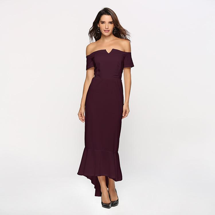 Off Schulter Frauen Kleidung Bankett Elegante Abend Party Cocktail Kleider
