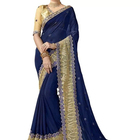 Custom Printing Pakistani Dress blue Georgette Woman Pure cotton Kurta Women Indian sari
