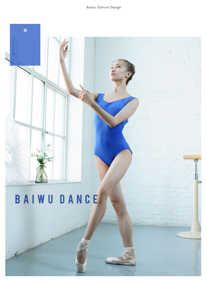 119141025  Baiwu Dance Leotards Sleeveless Lace Fashion Ballet Leotards Girls