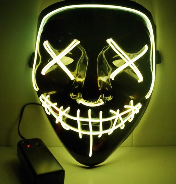 Halloween LED Mask -Scary Mask Cosplay Light up Mask for Halloween Festival Party