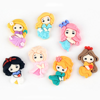 new design cartoon character flat back artificial craft resin princess