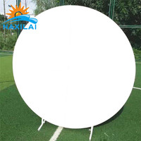 NAXILAI supply Best Quality Round Circle Donut Acrylic White Wall Backdrop For Party