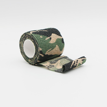 Mix color army insulated cotton self adhesive tape camo camouflage fabric tape for gun