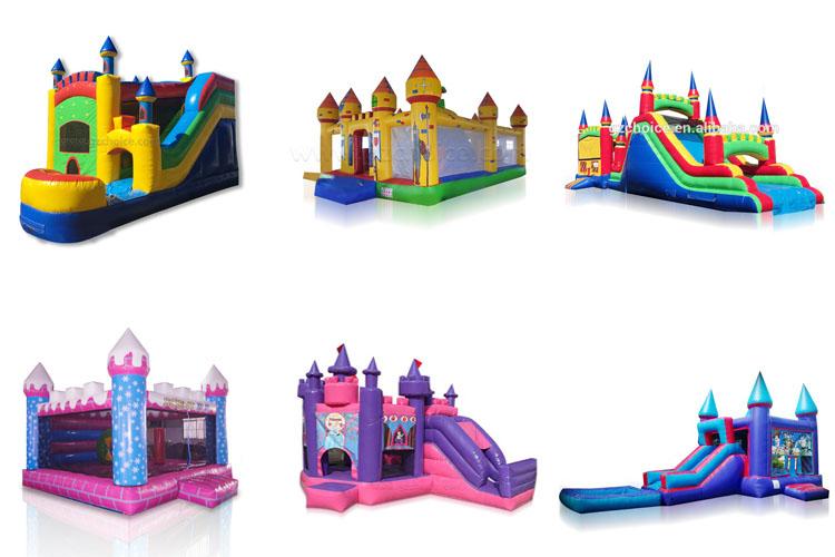 Aufblasbares Trampolin des verrückten und aufgeregten Luft-Prahlers und aufblasbarer Prahler des aufblasbaren Prahlers, der Schloss springt