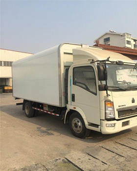 SINOTRUK 6 wheeler cargo truck open wing Van in Philippines
