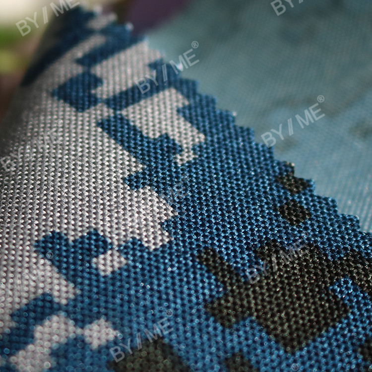 PVC backing 600d polyester camouflage fabric