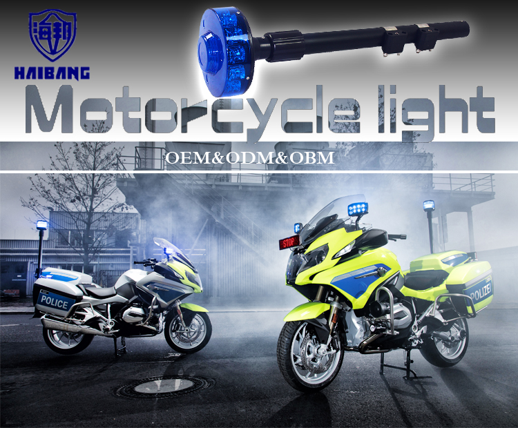 Police Warning Motorcycle Strobe Lights Traffic Advisory Led Rotating Grille Tail Motorcycle Rear Pole Flashing Light