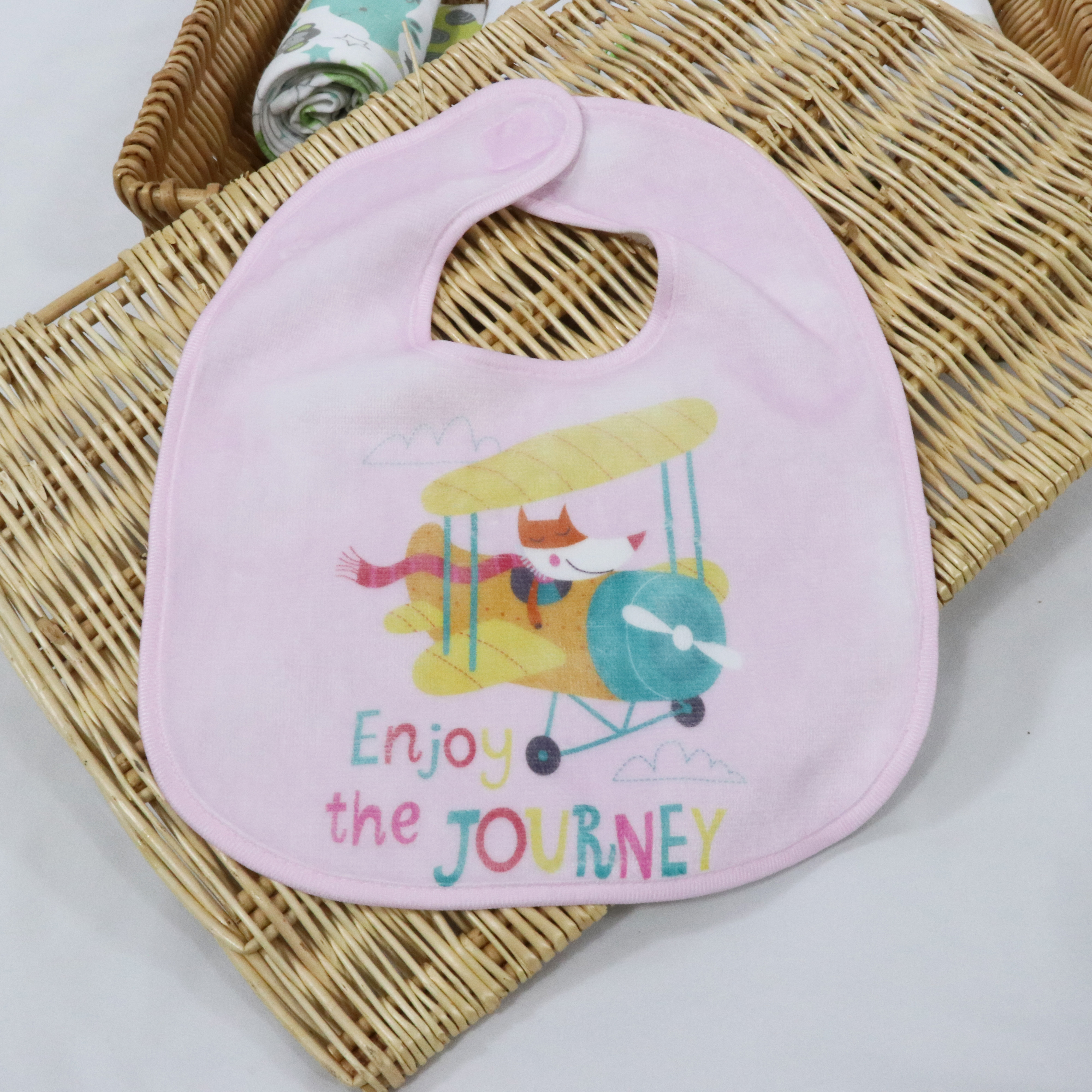 Customized poly cotton baby bibs