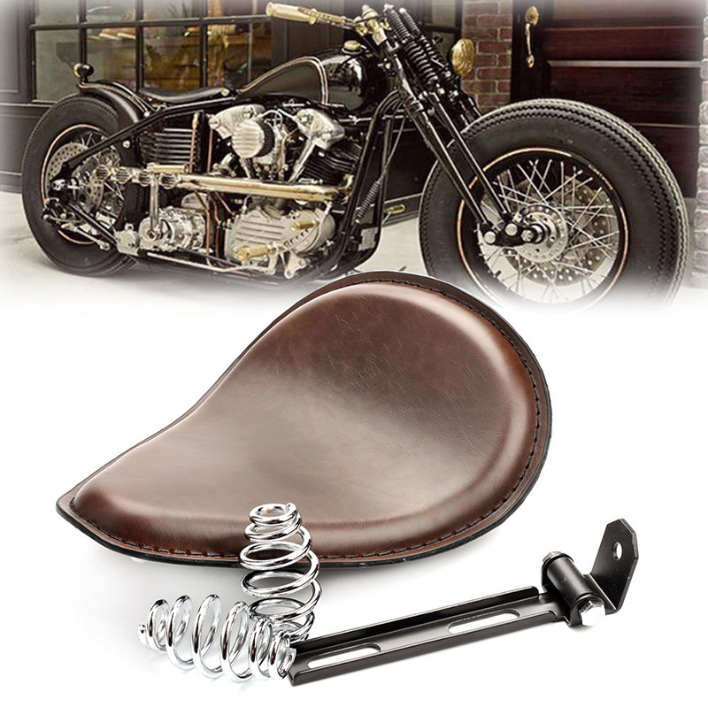 Suitable for Harley cruising prince car retro spring cushion modified seat bag modified cushion brown