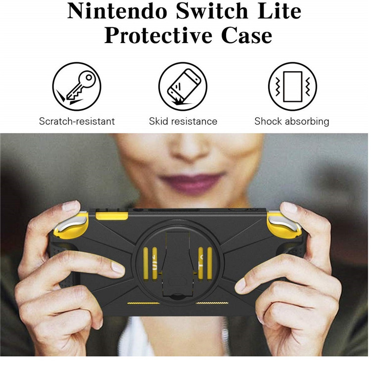 MoKo Durable Shockproof TPU Cover Case with Kickstand for Nintendo Switch Lite Console