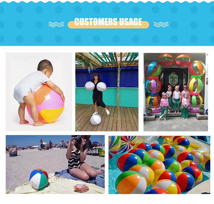 Iyi kalite Ftalat ücretsiz PVC renkli plaj topu şişme promosyon hediye için