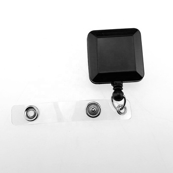 Square shape Retractable Badge Reel