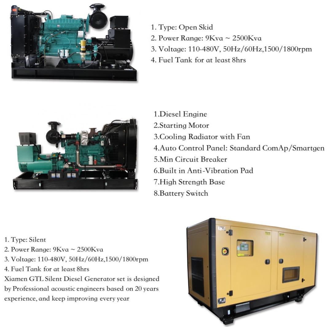 275 Kva Stille Diesel Generator Prijs