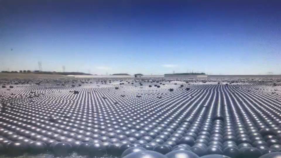 Bola de sombra de plástico hueca HDPE resistente a los rayos UV de 4 pulgadas