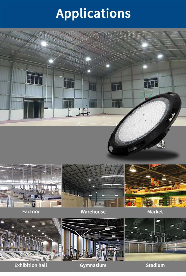CB IECEE BIS CE TUV approval UFO High Bay Led Light SMD 100W/150W/200W led light
