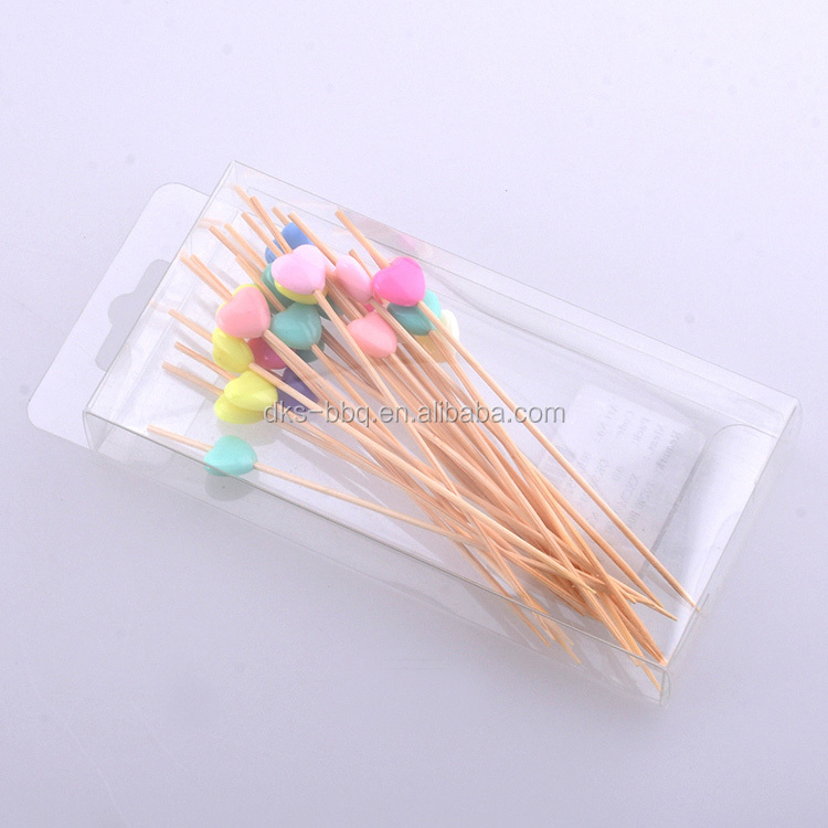 BHL1252 Wholesale Special Eco-friendly Mini Decorative  Disposable Bamboo Fruit Picks Stick
