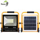 High quality rechargeable camping waterproof ip65 50w 100w emergency portable led solar light