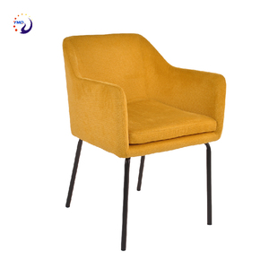 Design sofa dinning chair for hotel 2 chair Modern Upholstered fabric Dining Chairs with Arms