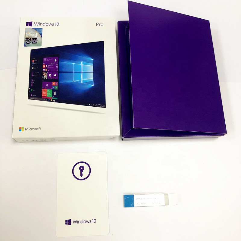 Korean Version Orignal windows 10 Pro Key Microsoft FPP Retail box Full Package windows 10 key