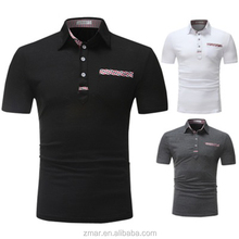 Design <span class=keywords><strong>de</strong></span> moda dos homens <span class=keywords><strong>de</strong></span> Patch Grade Camisa Casual Slim Fit <span class=keywords><strong>Polo</strong></span> T-shirt Ginásio