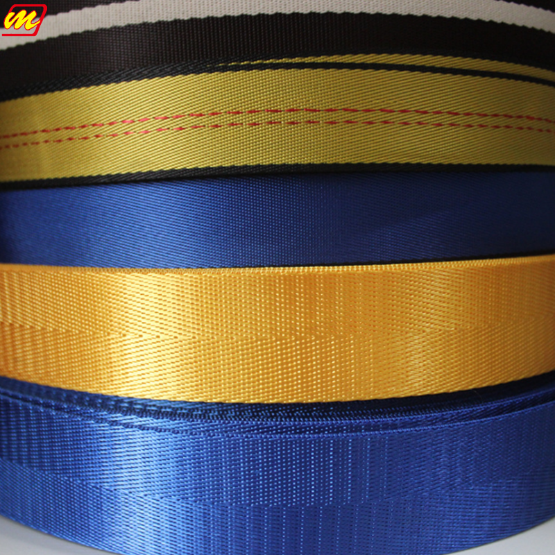High quality of customized nylon car seat belt webbing