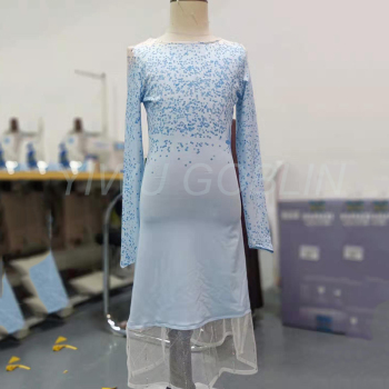 2019 Frozen 2 elsa Beautiful girls' princess dresses Performance long clothing Ice Snow perfect customs anna elsa cotton dress