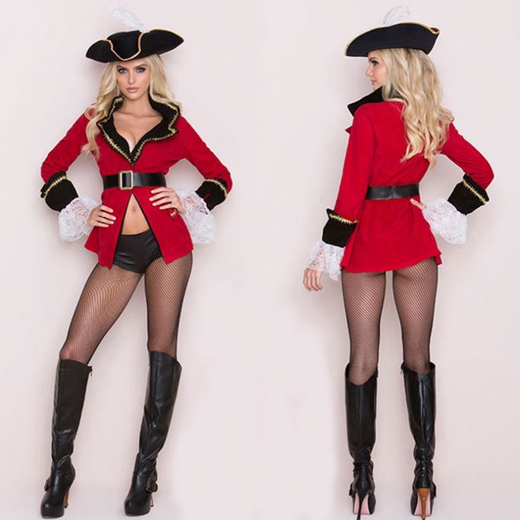 Pirates Cosplay Mini Dress Halloween Costumes For Women