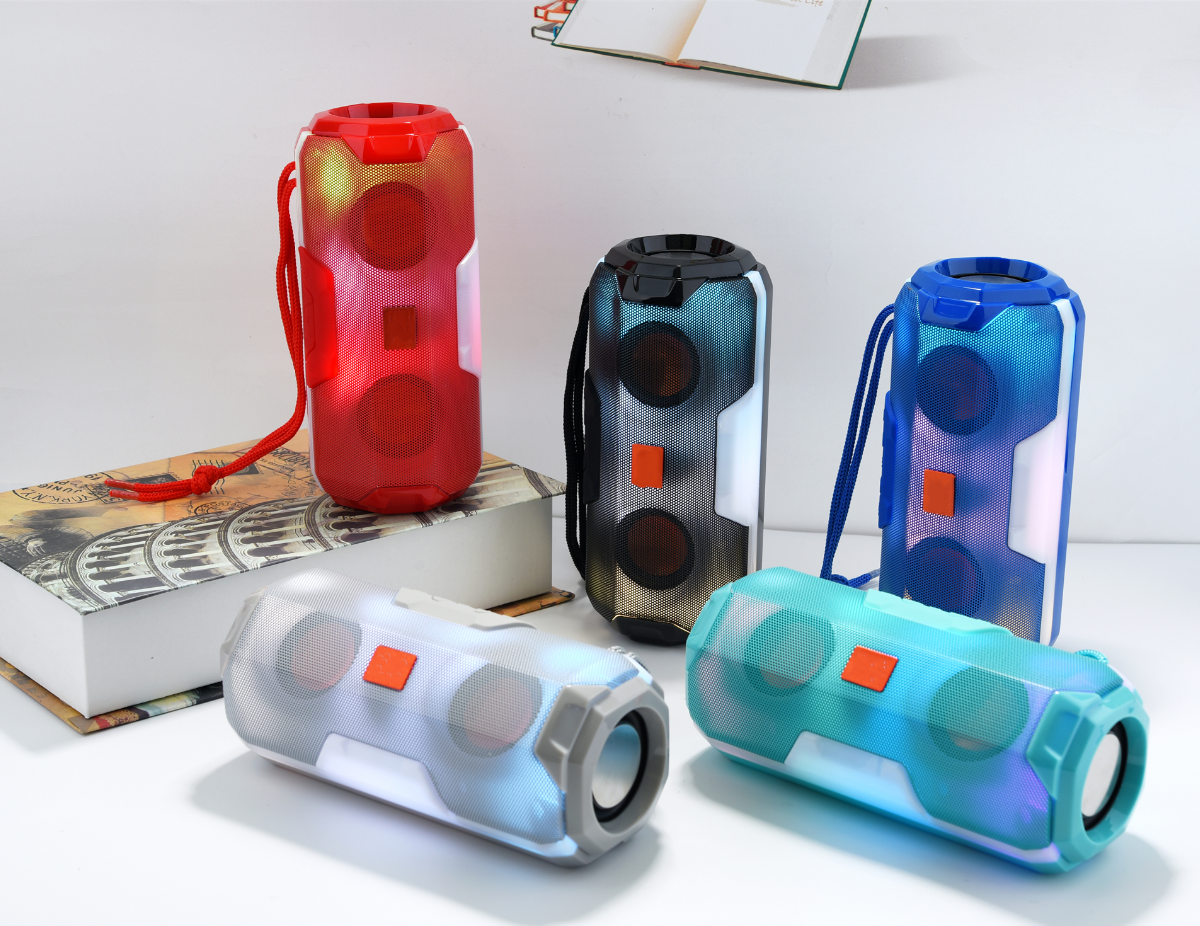 Multi-function wireless bluetooth speaker with LED lamp