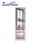 Aluminum Alloy Window USA NFRC/Miamia NOA Hurricane Impact Proof Aluminium Alloy Framed Lowes French Casement Window
