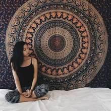 229x150 см большой Мандала индийский гобелен настенный богемный пляжное полотенце полиэстер тонкое одеяло коврик для йоги коврик шаль пледы л...(Китай)