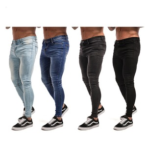 Wholesale custom new arrival new fashion jeans pants black skinny jean