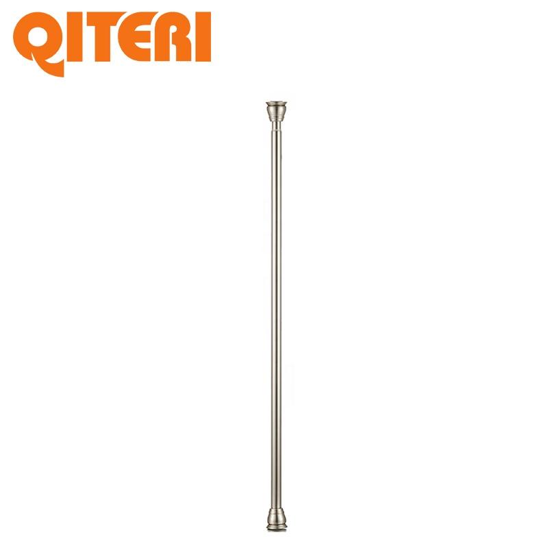 Metal tension bathroom straight adjustable shower curtain rod