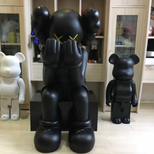 life size <span class=keywords><strong>pvc</strong></span> cartoon sitting black sculpture for sale