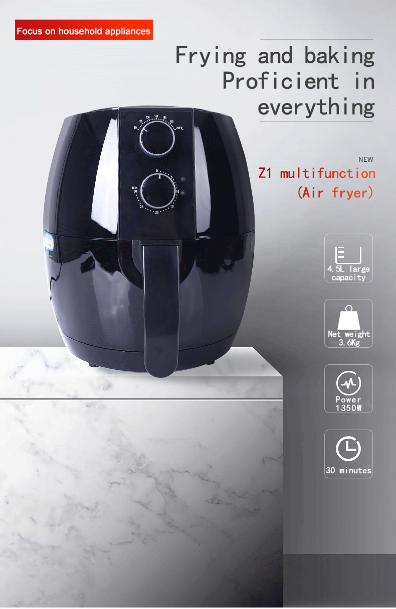 Factory wholesale air fryer household intelligent multi-function large capacity automatic oil-free electric French fries machine