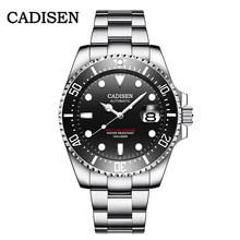 Мужские автоматические механические часы CADISEN, брендовые водонепроницаемые наручные часы NH35A для спорта, 100 м, 2020(Китай)