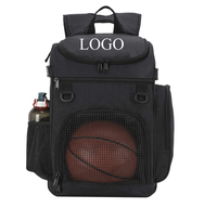 Customized Basketball Backpack Large Sports Bag for Men Women with Laptop Compartment Best for Soccer Volleyball Swim Gym