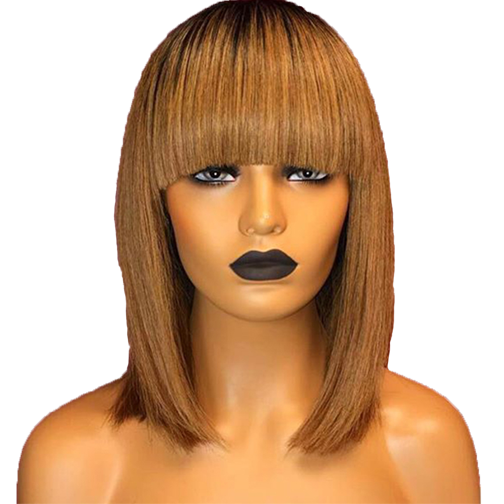 Wholesale virgin human hair 4x4 lace closure bob wig with ba