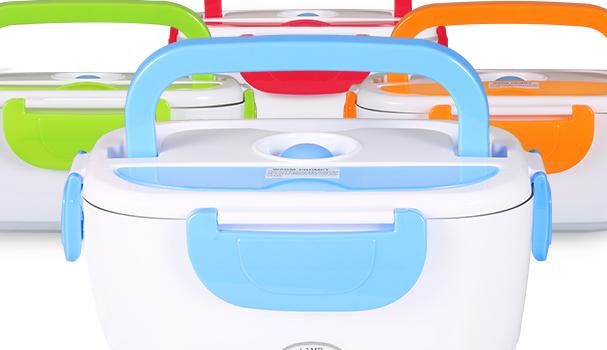 Commercio all'ingrosso BPA Libero 12V 1.5L Auto Portatile elettrico Lunch Box Bento Box Riscaldato Scatola di Pranzo Elettrica