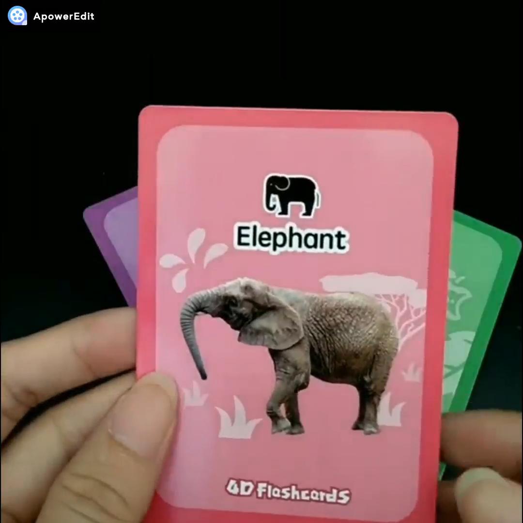 Custom printed educational alphabet flash cards for kids