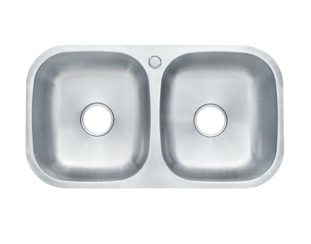Liangshun 31 inches Modern double machine laundry undermount sink bowl stainless steel