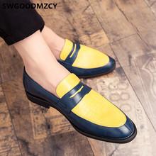 Кожаная обувь; Мужские классические лоферы; Дизайнерские мужские ботинки; Coiffeur; Вечерние туфли под крокодиловую кожу; Мужская официальная С...(Китай)