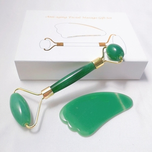 Pretty design Jade Roller For Face Facial with box green aventurine