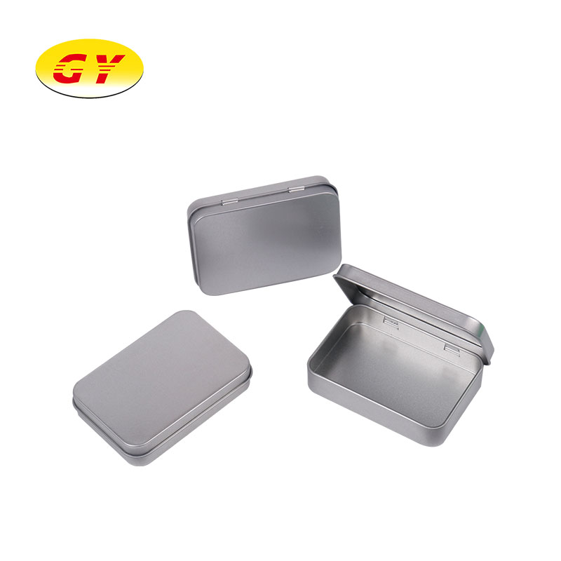 Hot selling gold hinged tin in 2020