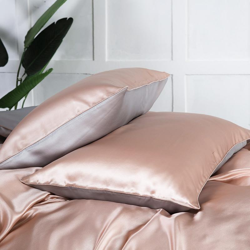 Ipek saten charmeuse saf dut ipek yastık kılıfı saç ve cilt için 19 mm