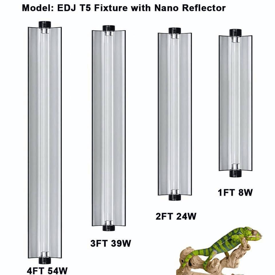 T5 HO приспособления для рептилий освещение растений флуоресцентная отражательная лампа для выращивания