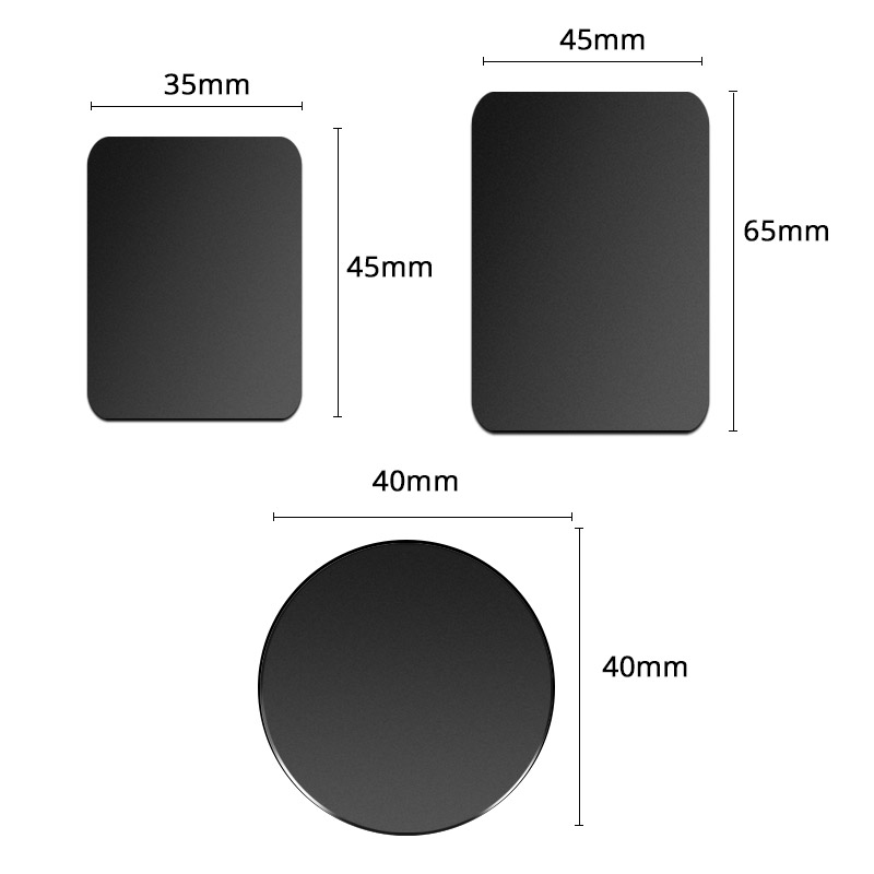 धातु की थाली के लिए डिस्क चुंबक कार फोन धारक के लिए लोहे की चादर स्टीकर चुंबकीय मोबाइल फोन धारक कार माउंट खड़े हो जाओ