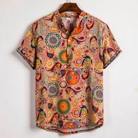 Free Shipping! Men's Large Size Floral Hawaiian Shirt Loose Beach Shirts