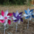 Wholesale Reasonable Price Wood Stick Colorful Garden 4 Leaf Windmill For Party Decoration